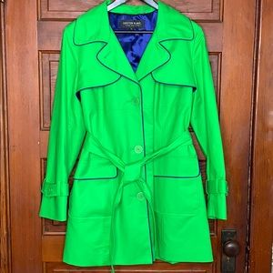 Kristen Blake Bright green trench coat size L